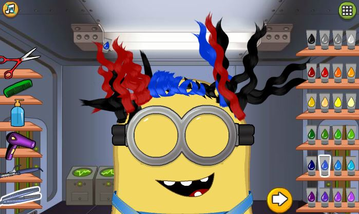 minion-at-hair-salon